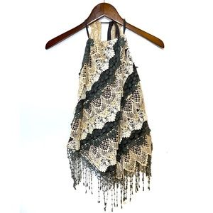 Anthropologie Hazel Medium Lace Crochet Halter Top